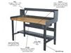 HEAVY-DUTY ADJUSTABLE LEG WORKBENCH ACCESSORIES